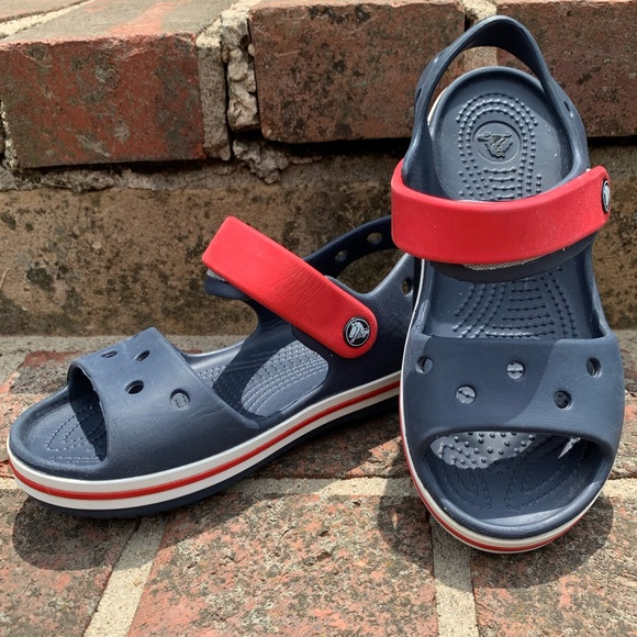 Kids Sports Crocs Velcro Sandals